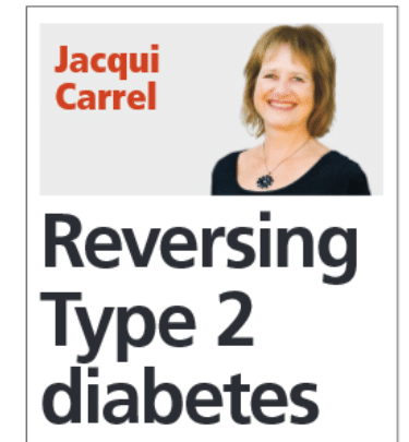 Reversing type 2 diabetes - JEP article by Jacqui Carrel - 13 Noveember 2019 - World Diabetes Day